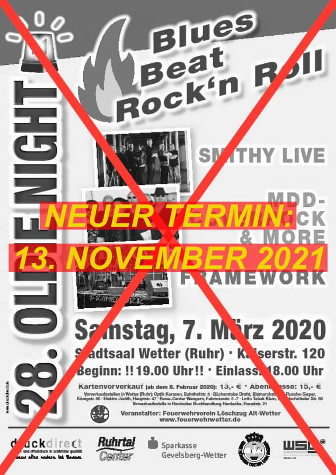 Plakat Verschiebung Oldie Night 2021